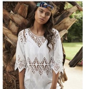 NWT PILYQ LISI SIZE XS/S COVER UP DRESS IVORY